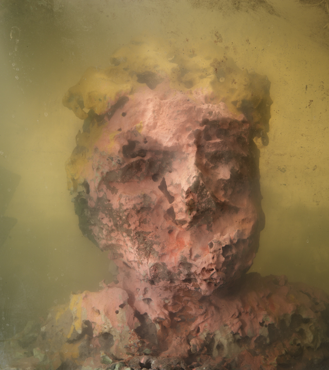 Eroded Man 26d, 27x24, 2010 Kim Keever