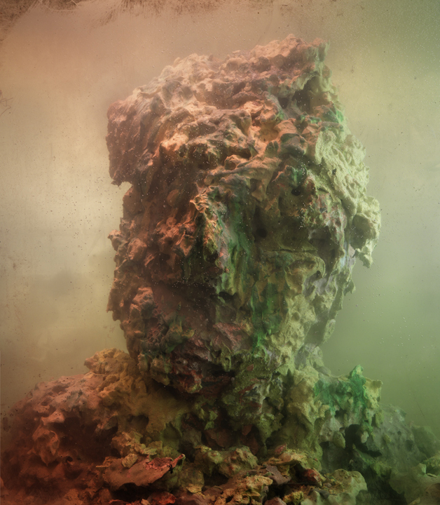 Eroded Man 36c, 27x24, 2010 Kim Keever