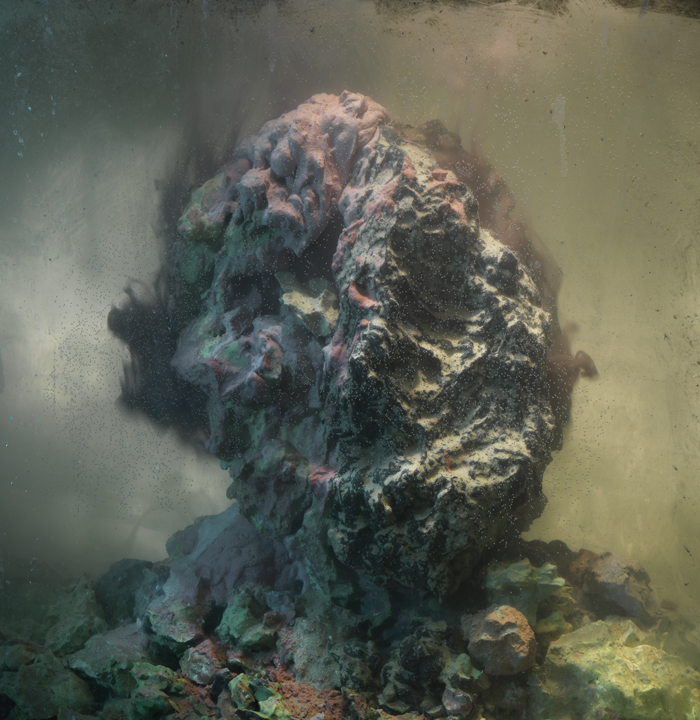 Eroded Man 70b, 25x24, 2010 Kim Keever