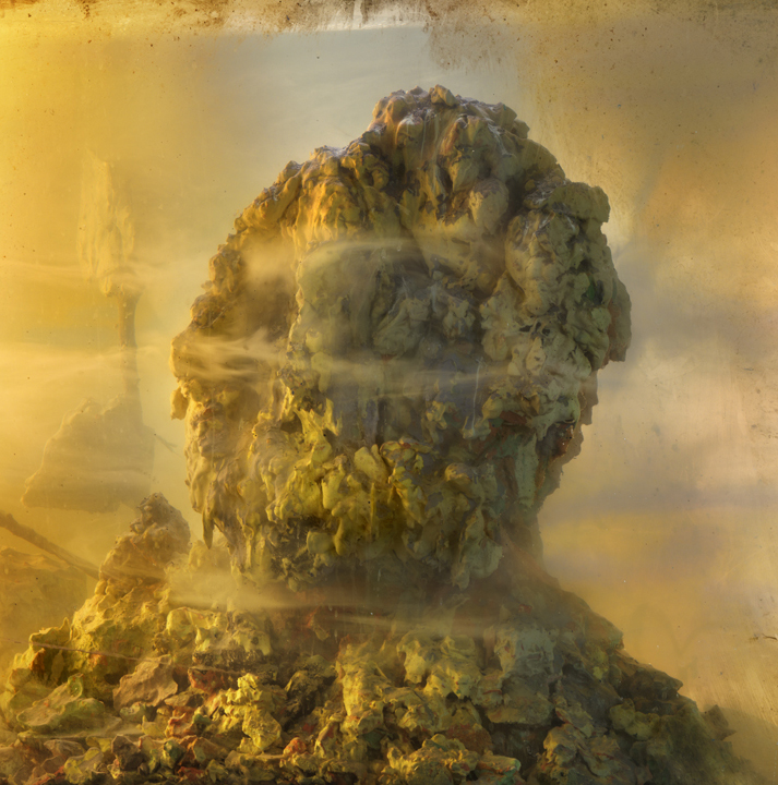 Eroded Man 74f, 24x24, 2010 Kim Keever