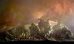 Eroding Mountains 8583b, 17x27, 29x48, 2011