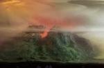 Eroding Mountains 7809, 17x24, 2011
