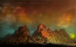 Eroding Mountains 8136c, 16x24, 31x48, 2011