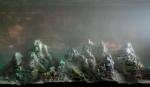 Eroding Mountains 8521b, 16x25, 2011