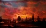 """Sunset 44d, 31""""x48"""", 46""""x72"""", 52""""x82"""", 2007"""