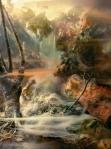 "Waterfall 114j, 70""x53, 85""x64"", 95""x72"", 2010"