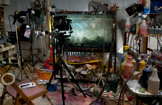 Studio view for Fallen Tree , 2005