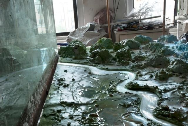 Studio view for Mountains 04d, 2010