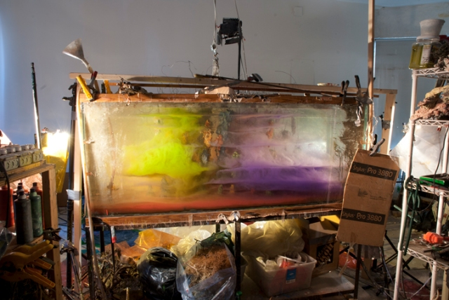 Studio view for Abstract series, 2012